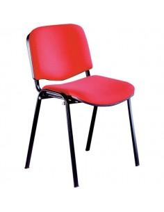 Sedia visitatore Agata UNISIT- acrilico - rosso - D5S/4/ER (conf.4)