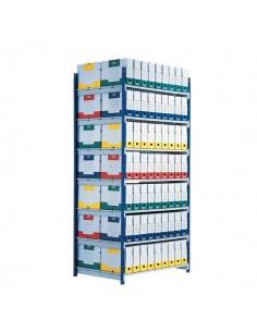 Scaffalatura ad incastro RANG'ECO Paperflow - Scaffale H200 x L125 x P70 - 5 - K607170
