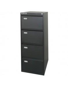 Classificatori Kubo - nero - 4 cassetti - 47x62x132 cm - 4104
