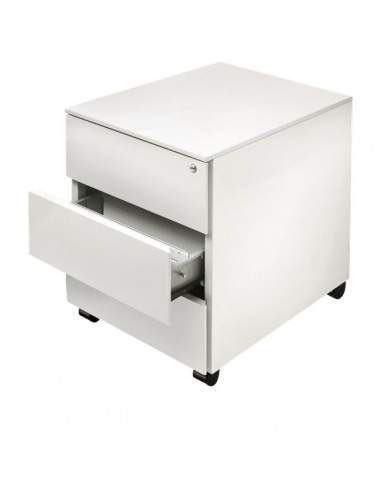 Cassettiere In Metallo.Cassettiere In Metallo Su Ruote Tecnical 2 3 Bianco 41x58x55 3 H Cm C3 Bianca