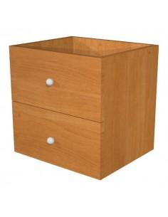 2 cassetti per libreria caselle Maxicube Noce Artexport - noce - 32,5x28,8x32,5 cm - 2c MaxC/4