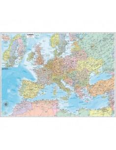 Carta geografica murale Belletti - Europa - 132x99 cm - aste in legno - M03PL/07