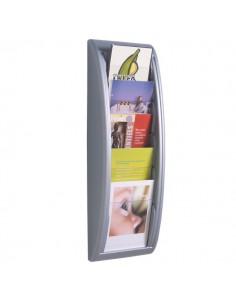Modulo a 5 tasche f.to A5 Paperflow - 22,8x9,5x65 cm - alluminio - 4063.35