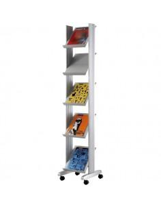 Espositori mobili Paperflow - alluminio - 33x27,5 cm - 35x38,2x165 cm - K502595