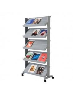 Espositore mobile Paperflow - alluminio - 82,5x38,2x165 cm - 255.35