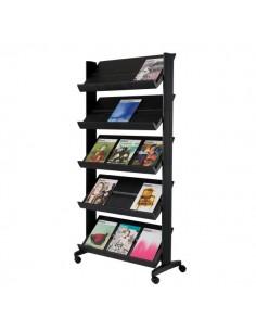 Espositore mobile Paperflow - nero - 82,5x38,2x165 cm - 255.01/255N.01