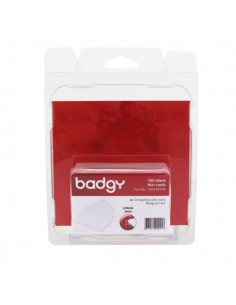 Consumabili per Badgy - Tessere in PVC basso spessore 0,50 mm - CBGC0020W (conf.100)