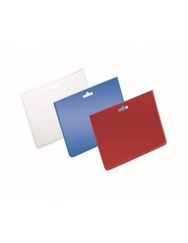 Buste portanome Durable - 9x6 cm - trasparente/rosso - 999110826 (conf.100)