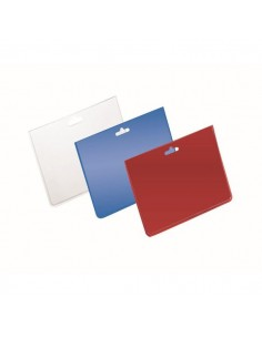 Buste portanome Durable - 9x6 cm - trasparente/blu - 999110827 (conf.100)