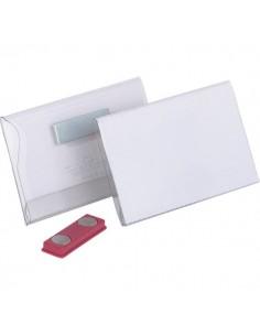 Portabadge con magnete Durable - 7,4x3,4 cm - 8117-19 (conf.25)