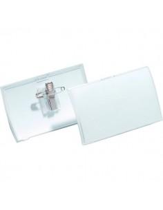 Portabadge Click Fold Durable - 5,4x9 cm - Clip e spilla - 8214-19 (conf.25)