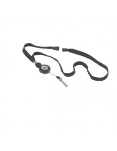 Cordoncino con meccanismo a chiocciola Durable - nero - 44 cm - 80 cm - 8223-01 (conf.10)