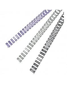 Dorsi metallici a 34 anelli GBC - 8 mm - 45 fogli - argento - RG810597 (conf.100)