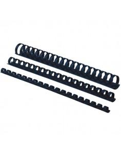 Dorsi plastici a 21 anelli Fellowes - 25 mm - 200 fogli - nero - 5348504 (conf.50)
