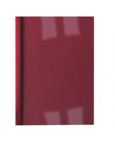 Cartelline termiche GBC - goffrata - 3 mm - 30 fogli - trasp./rosso - IB451218 (conf.100)