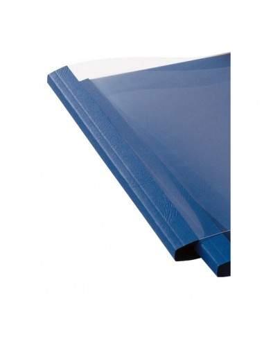 Cartelline termiche GBC - goffrata - 4 mm - 40 fogli - trasp./blu royal - IB451027 (conf.100)