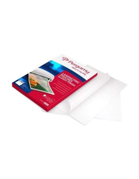 Pouches per plastificatrici Pergamy - 2x125 mic - A4 con foratura - 900144 (conf.100)