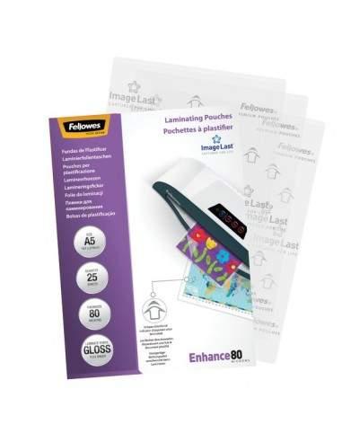 Pouches per plastificatrici Fellowes - 75 micron per lato - lucida - A5 - 5396003 (conf.25)