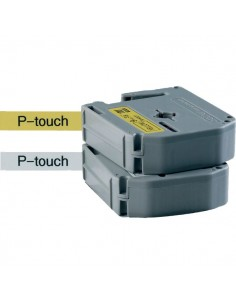 Nastri P-Touch serie M Brother - 12 mm - nero/giallo - MK631BZ