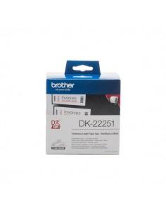 Nastro in carta serie DK Brother - rosso e nero su bianco - 62mm x 15,26m - DK22251