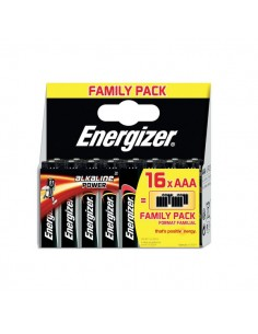 Energizer Family Pack Alkaline Power AAA x 16 - ministilo - E300171600/E300171602 (conf.16)