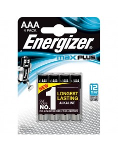 Pile alcaline Max Plus Energizer - AAA - ministilo - E301321400 (conf.4)