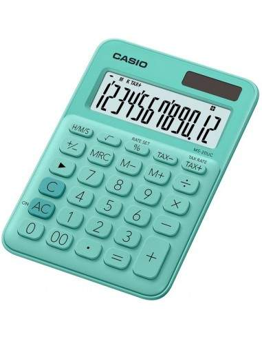 Calcolatrice da tavolo MS-20UC a 12 cifre Casio - verde pastello - MS-20UC-GN