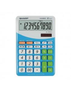 Calcolatrice da tavolo EL-M332B a 10 cifre Sharp - blu - SH-ELM332BBL