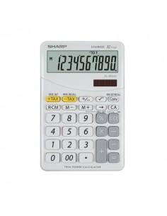 Calcolatrice da tavolo EL-M332B a 10 cifre Sharp - bianco - SH-ELM332BWH