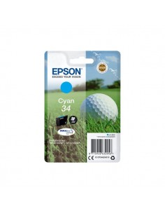 Originale Epson inkjet cartuccia pallina da golf Durabrite Ultra 34 - 4,2 ml - ciano - C13T34624010