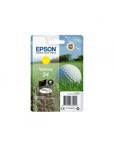 Originale Epson inkjet cartuccia pallina da golf Durabrite Ultra 34 - 4,2 ml - giallo - C13T34644010