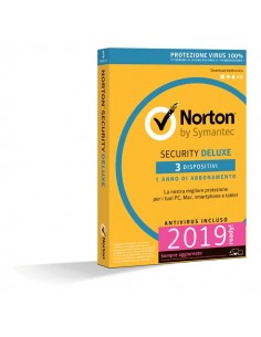 Norton Antivirus Security Deluxe Symantec - 3 PC - 21355471