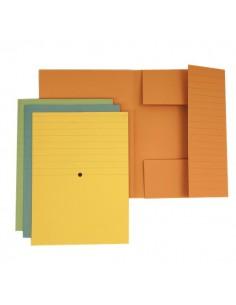 Cartelle 3 lembi alto spessore 4company - 25x34,5 cm - giallo - 3440 04 (conf.20)
