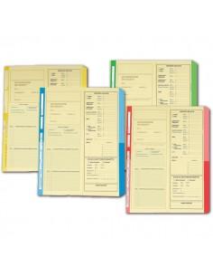 Cartelline dichiarazione redditi 4company - 32,5x25,5 cm - avorio - verde - 4175 03 (conf.50)