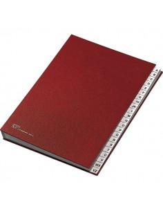Classificatore alfabetico A-Z Fraschini - rosso - 640-E
