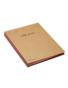 Libro firma 18 intercalari riciclabile Fraschini - 22x34 cm - avana - 618-ECO