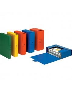 Scatole portaprogetti Eurobox Esselte - dorso 8 cm - 25x35 cm - verde - 390328180 (conf.5)
