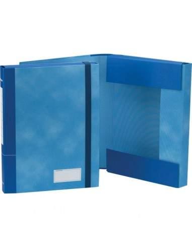 Cartella con elastico Essential Esselte - Dorso 4 - 25x32 cm - blu nuvolato - 390370050