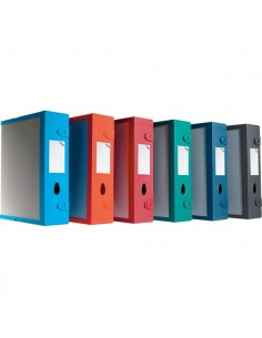 Scatola Archivio Combi Box E500 Leonardi - Dorso 9 mm - rosso bordeaux - E500RB