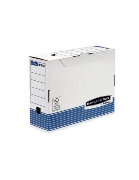 Contenitore Archivio A4 Dorso 10 cm Bankers Box System Fellowes - 0026501 (Conf.10)
