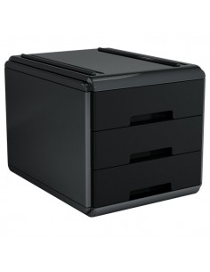 Mini cassettiera My desk Arda - 17,7x25,4x17 cm - nero - 19P3PNN