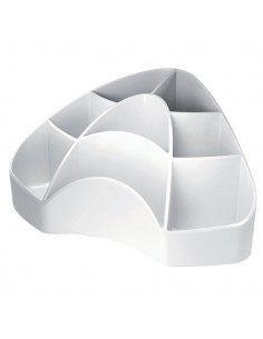 Accessori Da Scrivania My Desk Arda - Portaoggetti - 18,5x12,3x9 cm - Bianco - 7121B