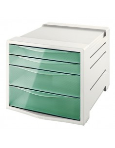 Cassettiera Colour'Ice Esselte - 4 cassetti - 24,5x36,5x28,5 cm - verde - 626285