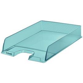 Vaschetta portacorrispondenza Colour'Ice Esselte - 25,4x6,1x35 cm - azzurro - 626274 (conf.10)