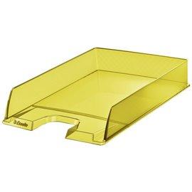 Vaschetta portacorrispondenza Colour'Ice Esselte - 25,4x6,1x35 cm - giallo - 626272 (conf.10)