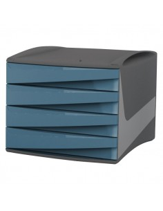 Cassettiera Green2Desk Fellowes - blu carta da zucchero - 28,5x38,4x25,4 cm - 0019201