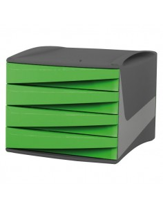 Cassettiera Green2Desk Fellowes - verde acido - 28,5x38,4x25,4 cm - 0019001