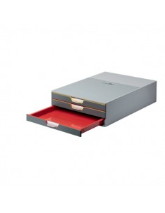 Cassettiere da scrivania Varicolor® 3 Durable - 28x35,6x9,5 cm - 3 cassetti multicolore - 7603-27