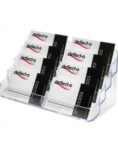 Portabiglietti da visita da tavolo Deflecto - 8 scomparti - 20x9,5x9,8 cm - trasparente - 70801