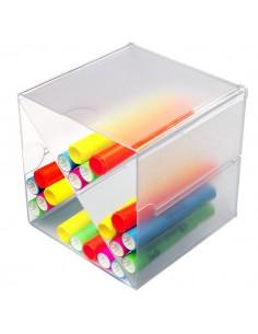 Cubi Organizer Deflecto - Divisorio a X - trasparente - 350201